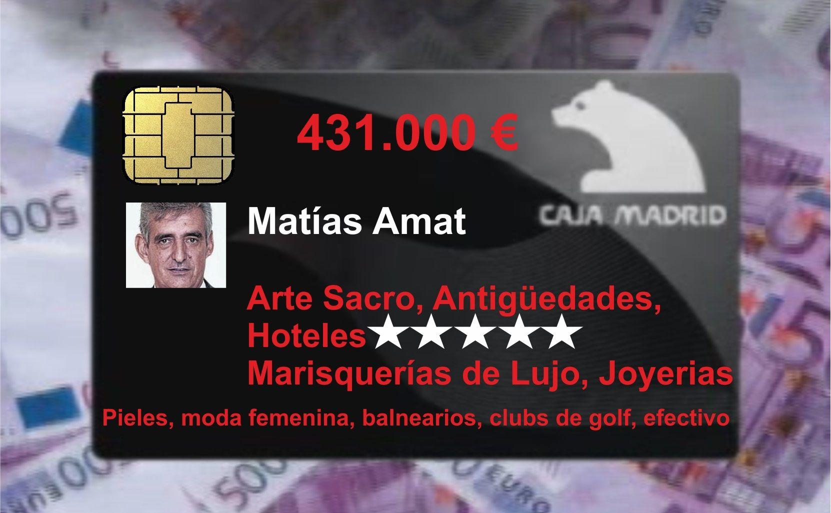 Matías Amat espera que le devuelvan el dinero que reintegró de su ´black´