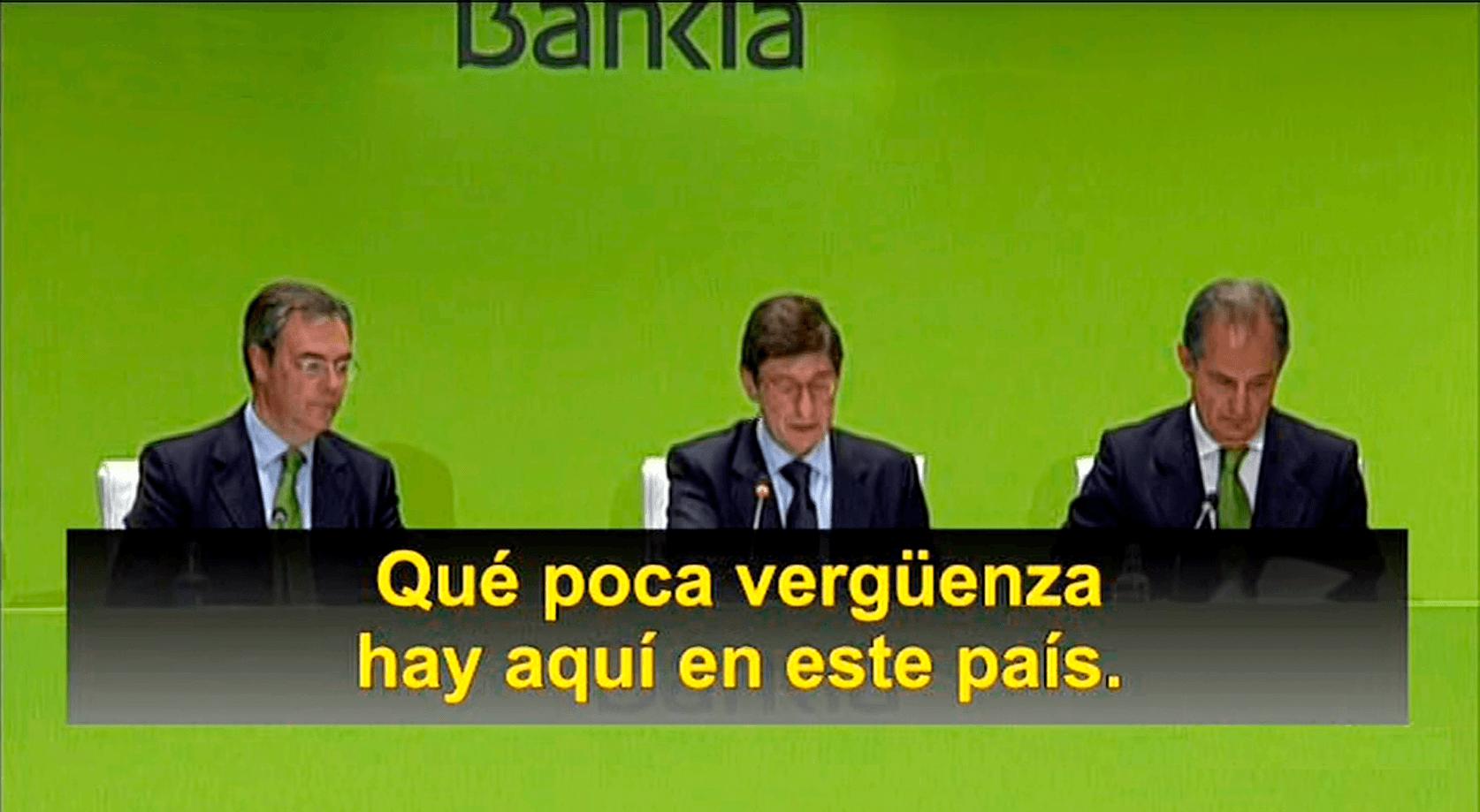 Preferentistas indignados abuchean a Goirigolzarri en la junta de accionistas de Bankia