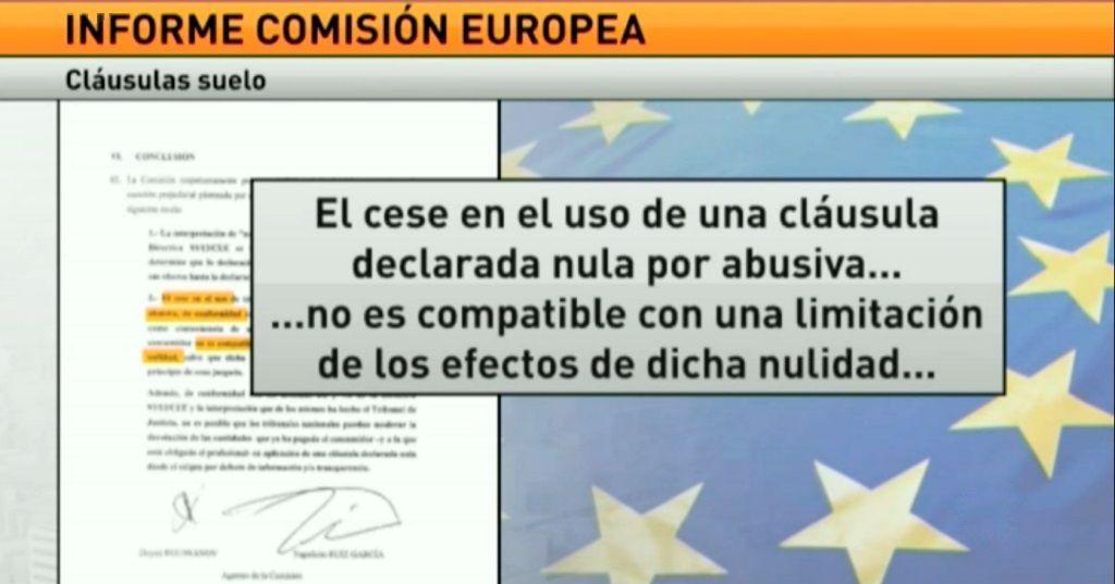 Bruselas quiere que los bancos devuelvan todos los cobros for Escrito clausula suelo