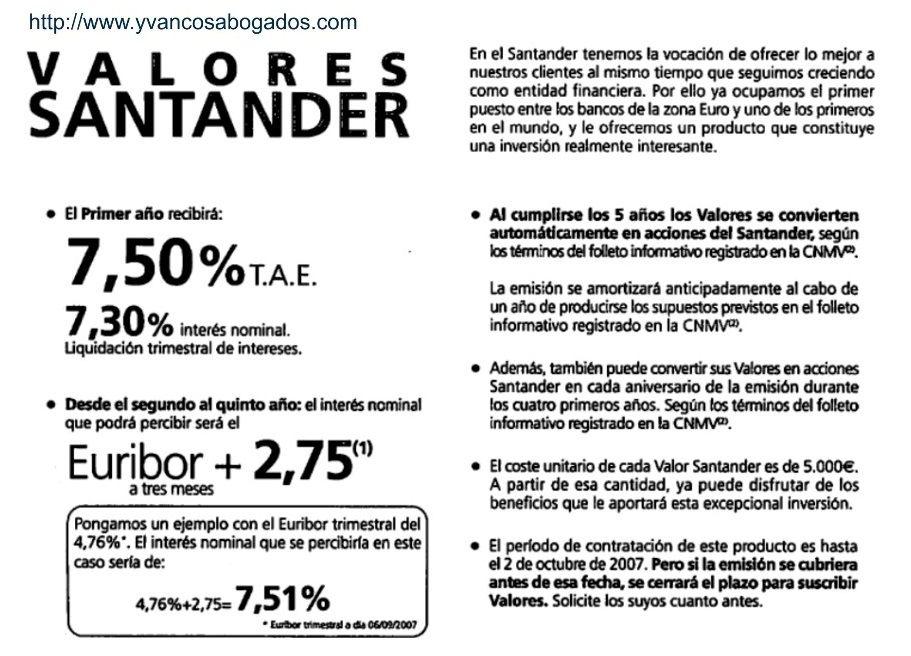 Cómo recuperar la inversión en Valores del Santander