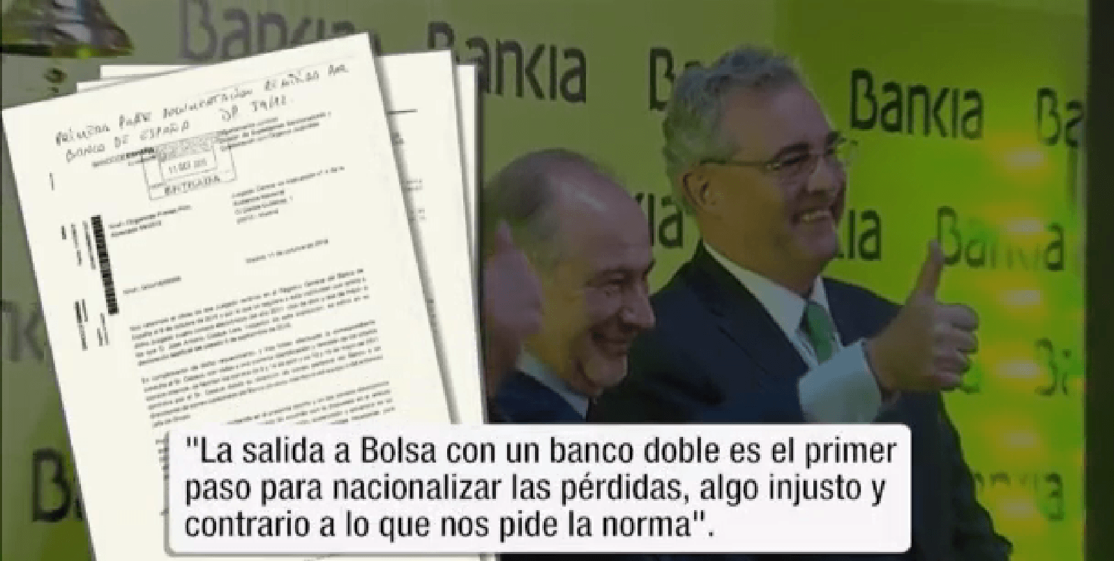 """Bankia era un enfermo inviable"""